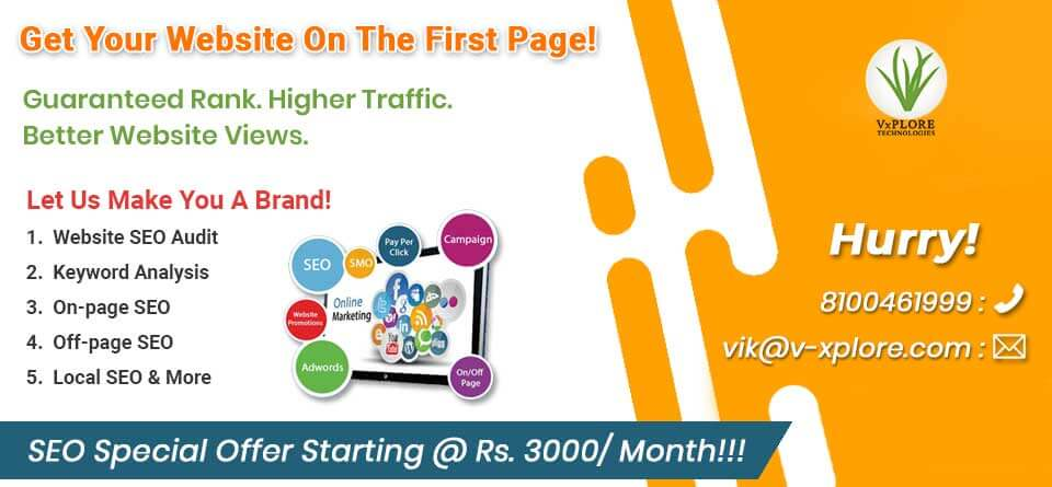 Don't Miss Special SEO Offer Launched By Vxplore